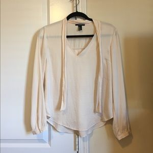 Forever 21 Light nude pink/cream blouse